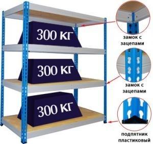Стеллажи складские МКФ (300 кг на полку)
