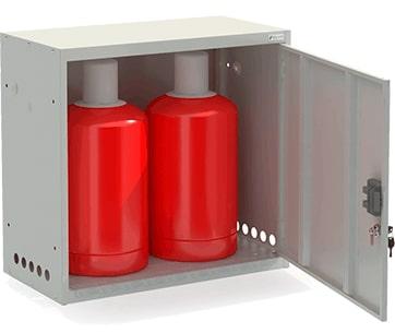 Шкаф для двух газовых баллонов ШГР 27-2