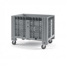 Пластиковый контейнер iBox 1200х800 (перфорированный, на колесах)
