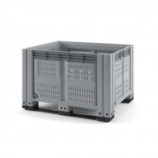 Пластиковый контейнер iBox 1200х1000 (перфорированный, на полозьях)