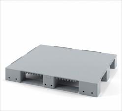 Поддон полимерный сплошной для стеллажного хранения 1200х1000х150