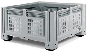 Пластиковый контейнер iBox 1130х1130х580 мм (перфорированный, на ножках)