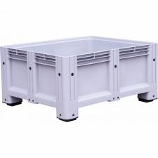 Пластиковый контейнер iBox 1130х1130х580 мм (сплошной, на ножках)