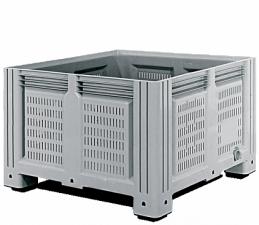 Пластиковый контейнер iBox 1130х1130х760 мм (перфорированный, на ножках)