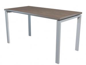 Стол офисный NT 140X70 темный орех/серый