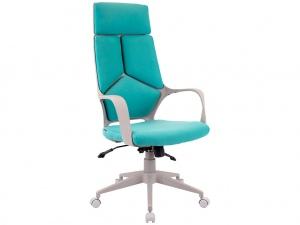Офисное кресло TRIO GREY (ткань бирюзовая)