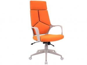 Офисное кресло TRIO GREY (ткань оранжевая)