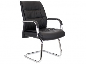 Офисное кресло посетителя BOND экокожа черная