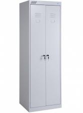 Металлический шкаф для одежды ШРК-22-600 в разобранном виде
